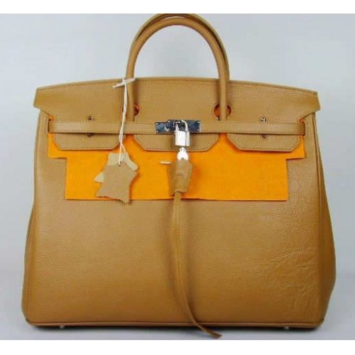Hermes Birkin 40cm_Apricot Togo Leather_Silver Metal