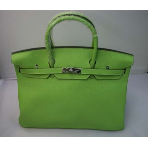 Hermes Birkin 40cm_Green Togo Leather_Silver Metal
