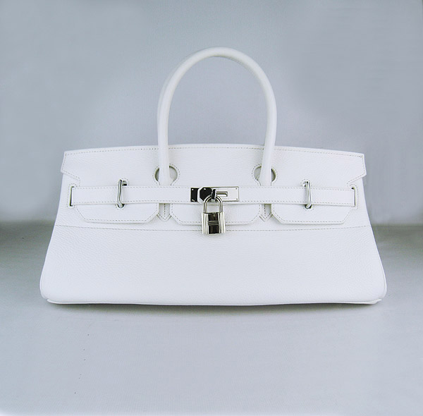 Hermes Birkin 42cm White Togo Leather_Silver Metal