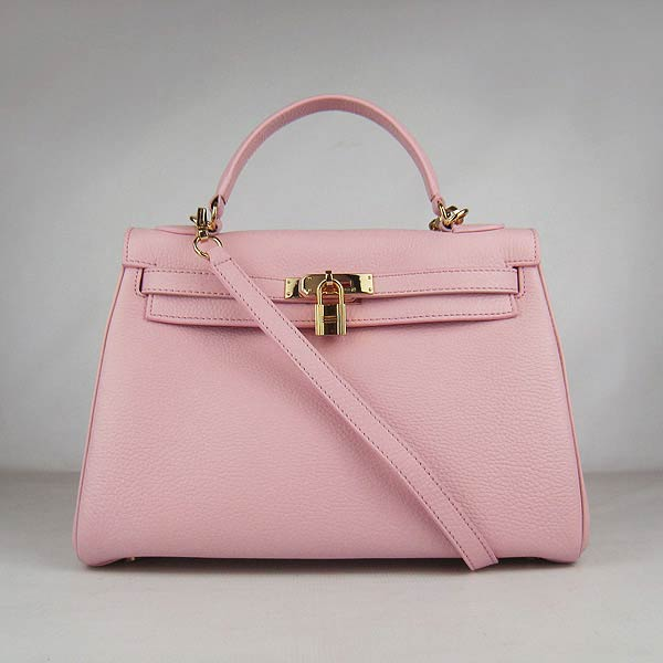 Hermes Kelly 32cm_Pink Togo Leather_Golden Metal