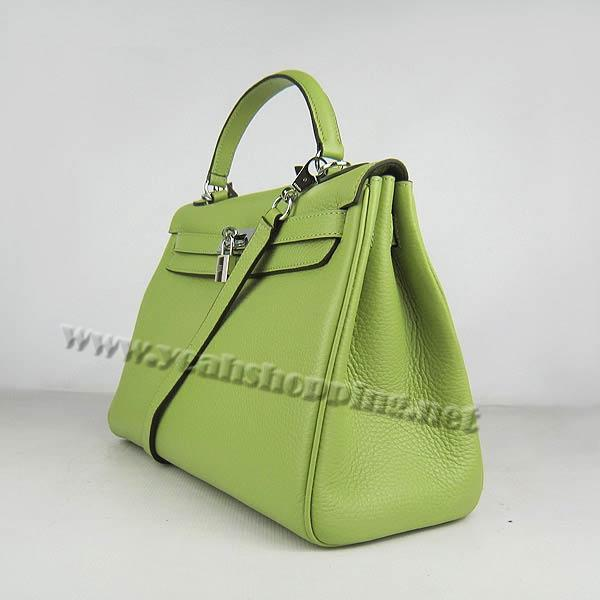 Hermes Kelly 32cm_Green Togo Leather_Silver Metal-1