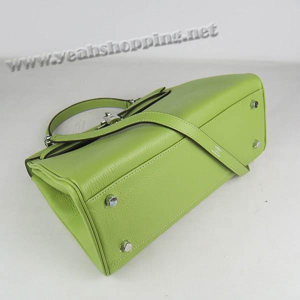 Hermes Kelly 32cm_Green Togo Leather_Silver Metal-3