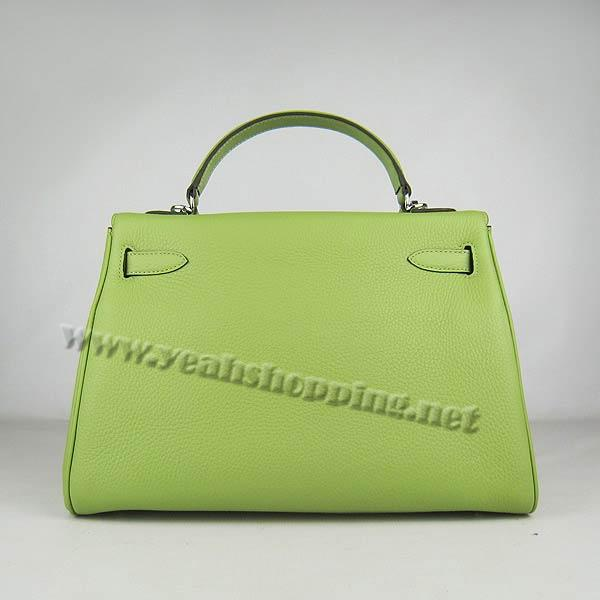 Hermes Kelly 32cm_Green Togo Leather_Silver Metal-4