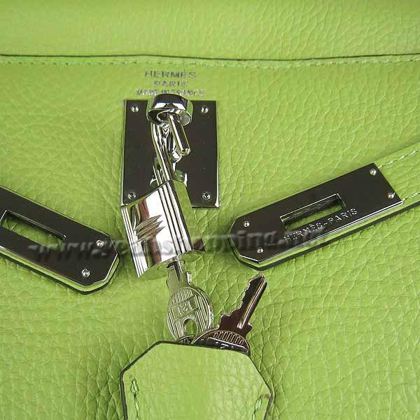 Hermes Kelly 32cm_Green Togo Leather_Silver Metal-5