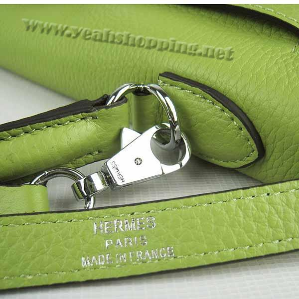 Hermes Kelly 32cm_Green Togo Leather_Silver Metal-6