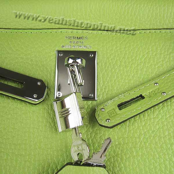 Hermes Kelly 32cm_Green Togo Leather_Silver Metal-7
