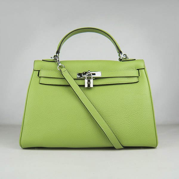 Hermes Kelly 32cm_Green Togo Leather_Silver Metal