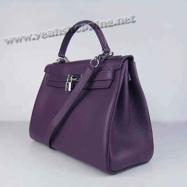 Hermes Kelly 32cm_Purple Togo Leather_Silver Metal-1