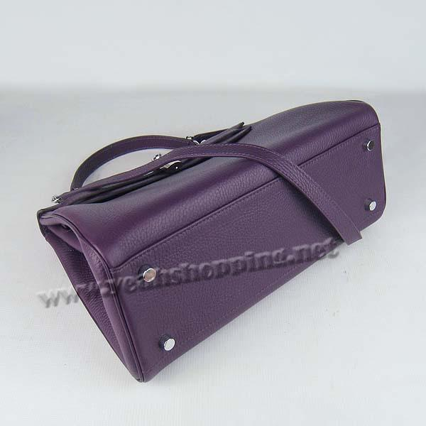 Hermes Kelly 32cm_Purple Togo Leather_Silver Metal-3