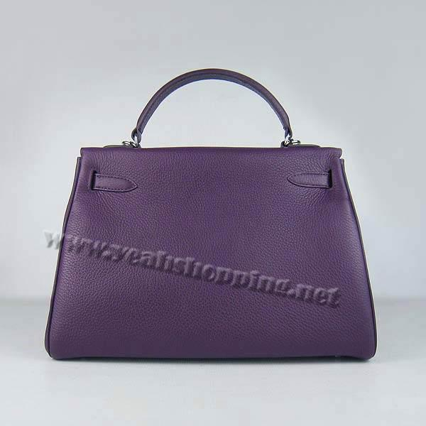 Hermes Kelly 32cm_Purple Togo Leather_Silver Metal-4