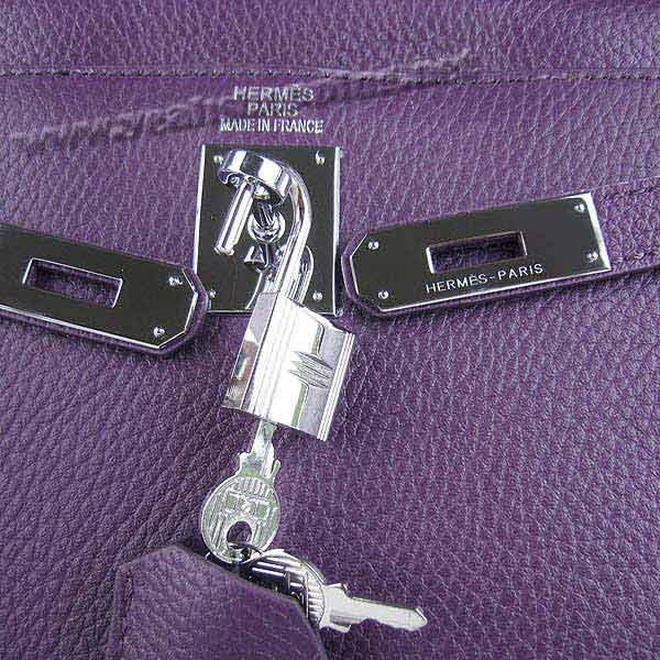 Hermes Kelly 32cm_Purple Togo Leather_Silver Metal-5