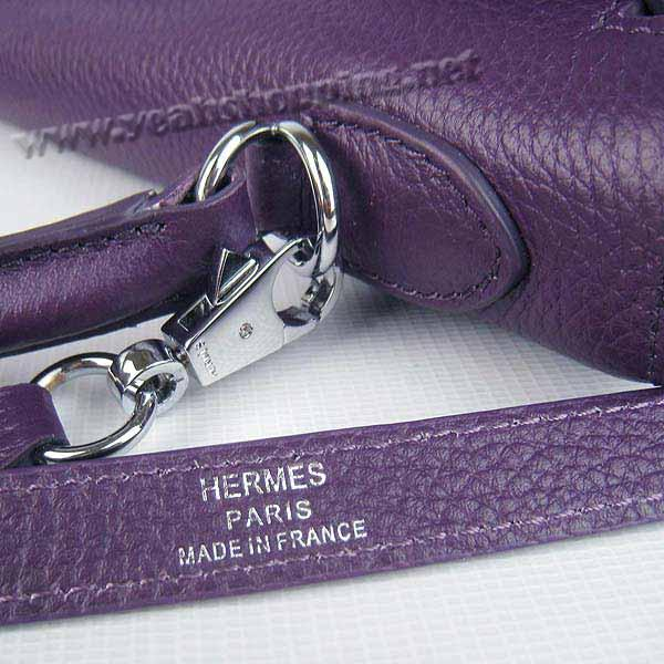 Hermes Kelly 32cm_Purple Togo Leather_Silver Metal-6