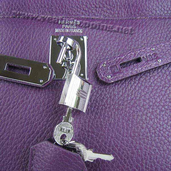 Hermes Kelly 32cm_Purple Togo Leather_Silver Metal-7