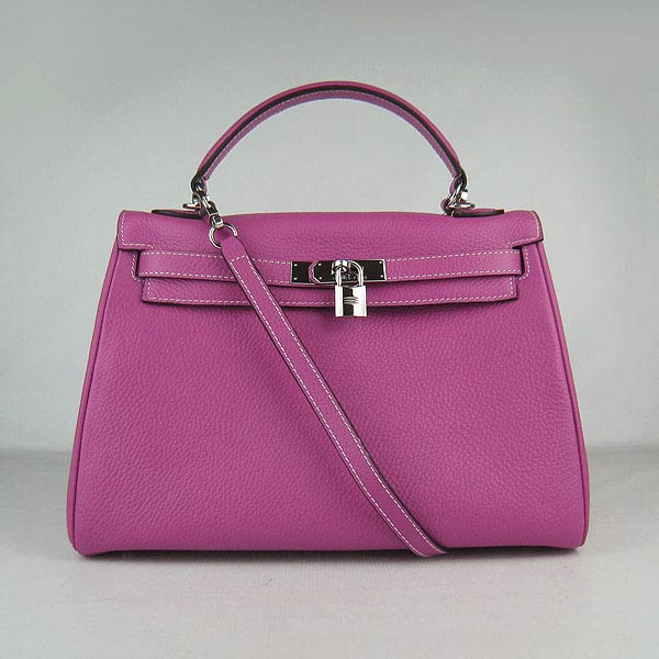 Hermes Kelly 32cm_Fuchsia Togo Leather_Silver Metal