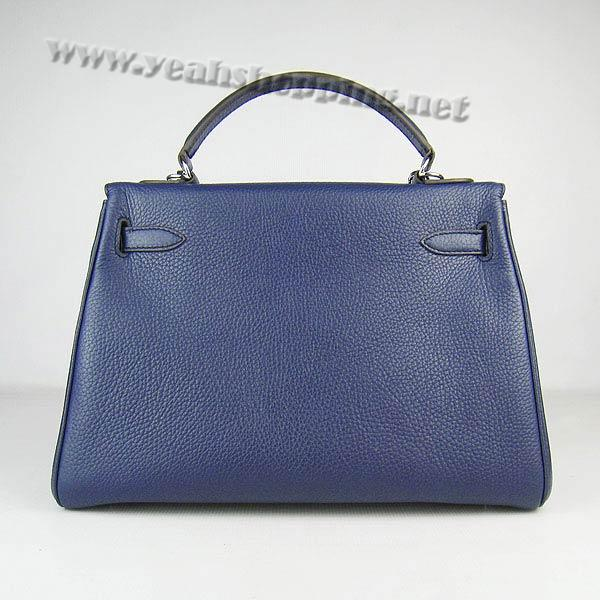Hermes Kelly 32cm_Deep Blue Togo Leather_Silver Metal-1