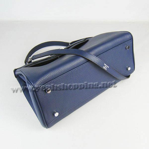 Hermes Kelly 32cm_Deep Blue Togo Leather_Silver Metal-3