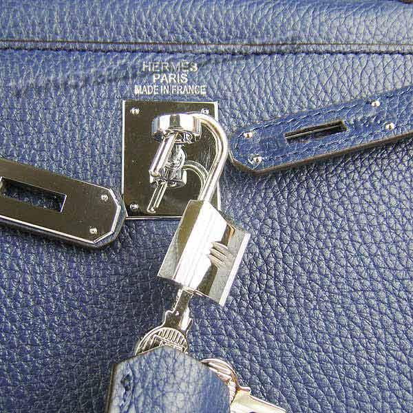 Hermes Kelly 32cm_Deep Blue Togo Leather_Silver Metal-5