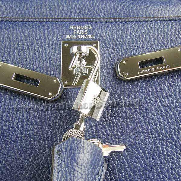 Hermes Kelly 32cm_Deep Blue Togo Leather_Silver Metal-6