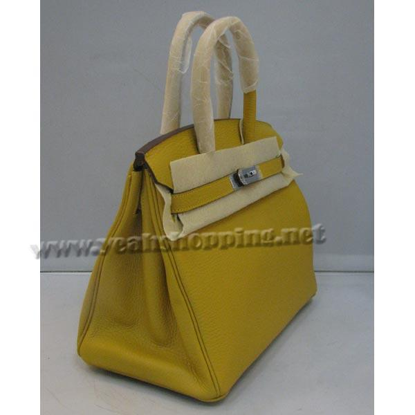 Hermes Birkin 30cm_Yellow Togo Leather_Silver Metal-1