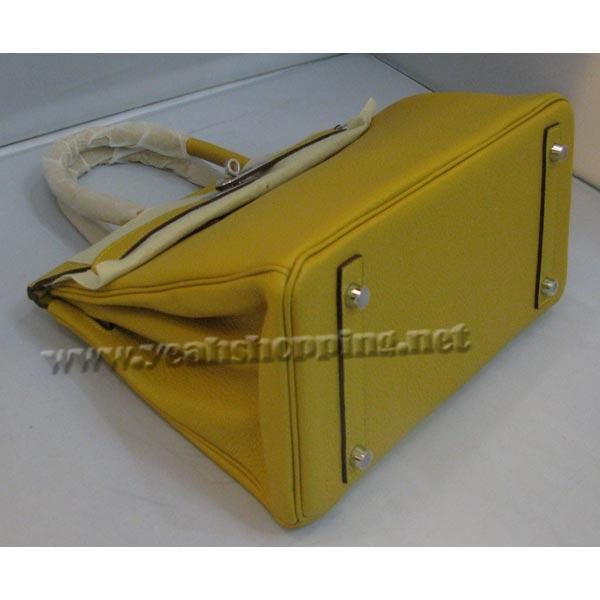 Hermes Birkin 30cm_Yellow Togo Leather_Silver Metal-3
