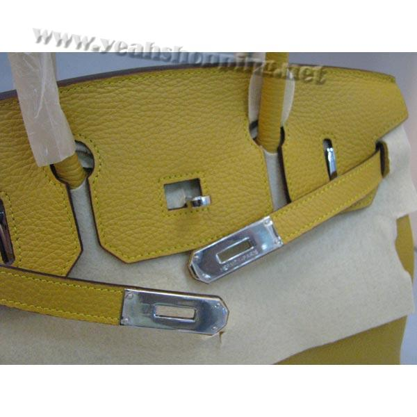 Hermes Birkin 30cm_Yellow Togo Leather_Silver Metal-4
