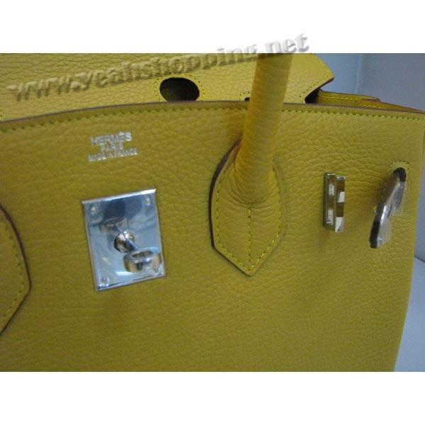 Hermes Birkin 30cm_Yellow Togo Leather_Silver Metal-6