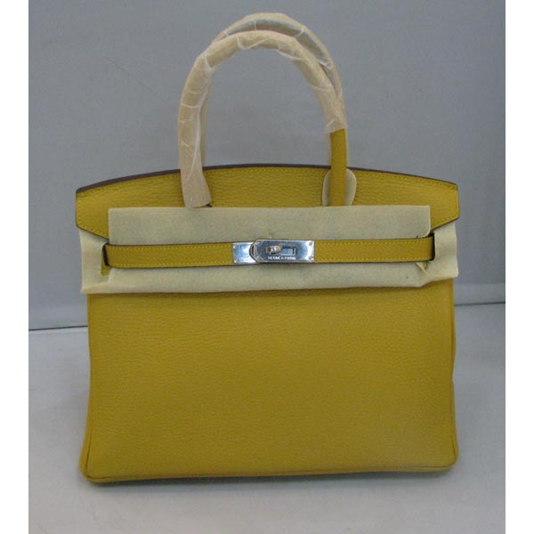 Hermes Birkin 30cm_Yellow Togo Leather_Silver Metal