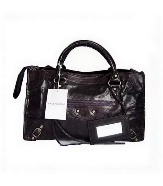 Balenciaga City Bag_Dark Purple