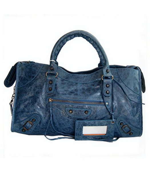 Balenciaga Giant City Handbag Royal Blue Lambskin