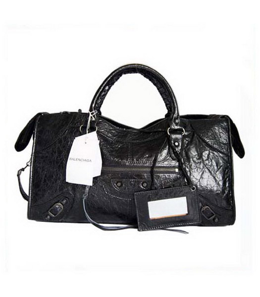 Balenciaga Giant City Handbag Black Lambskin
