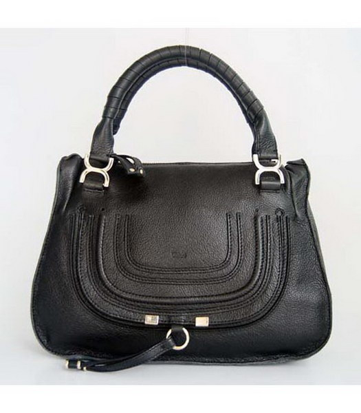 Chloe Black Genuine Leather Handbag