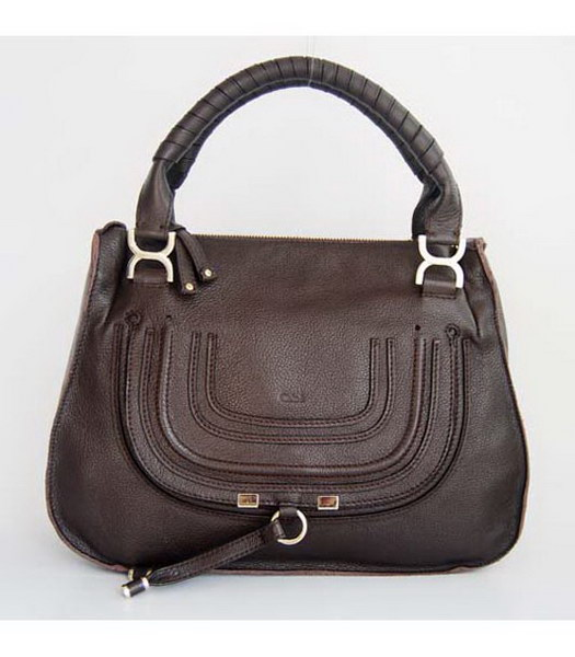 Chloe Dark Coffee Genuine Leather Handbag
