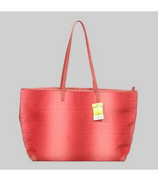 Fendi Classic Shoulder Bag Red Fabric