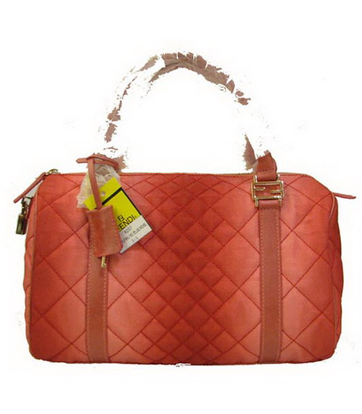 Fendi Rhombic Line Bag Red Fabric