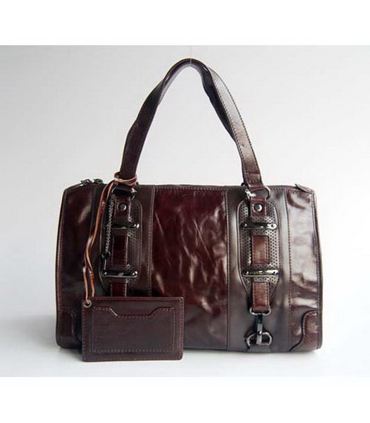 Balenciaga Dark Coffee Leather Handbag