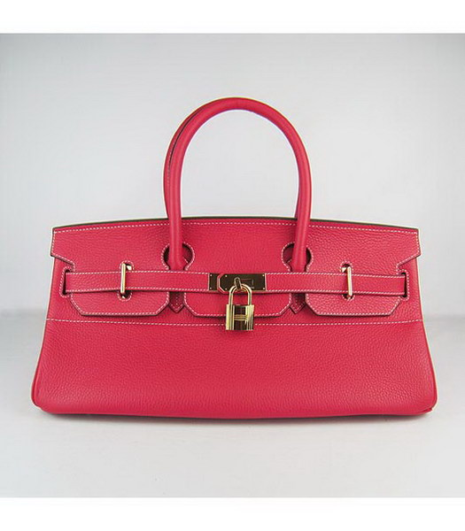 Hermes Birkin 42cm Red Togo Leather Golden Metal