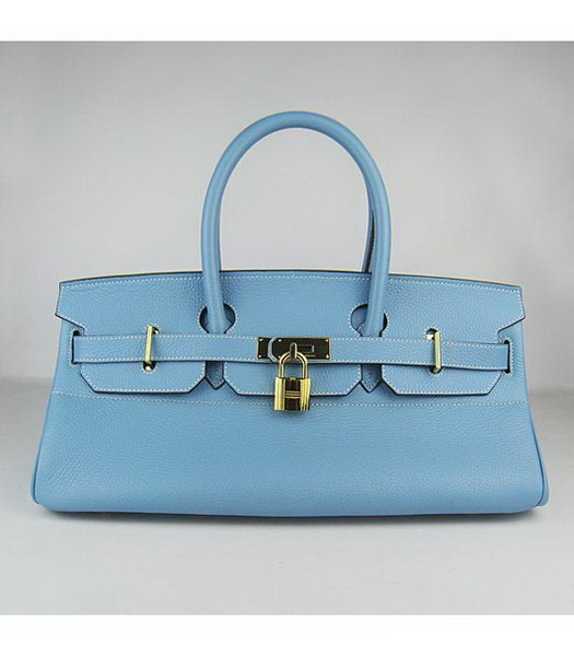Hermes Birkin 42cm Light Blue Togo Leather Golden Metal
