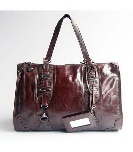 Balenciaga Dark Coffee Leather Large Handbag