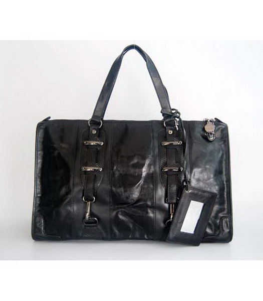 Balenciaga Black Leather Large Handbag