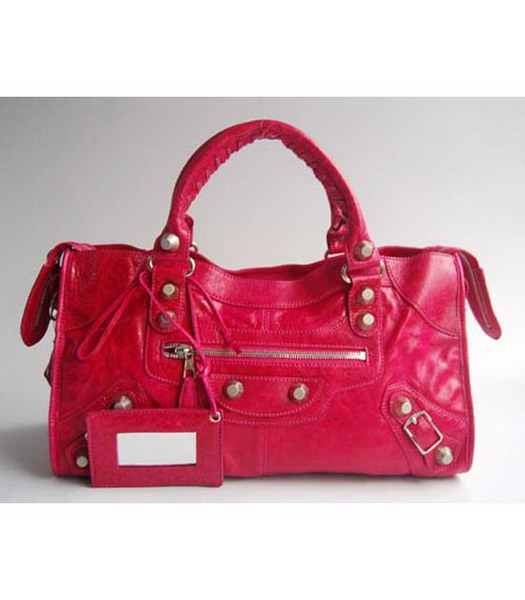 Balenciaga Classic Large Handbag Pink Leather