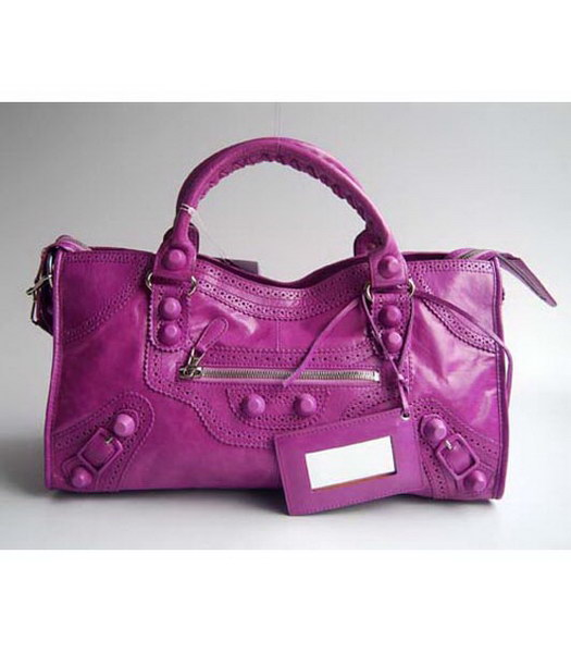 Balenciaga Covered Giant Part Time Purple Large Handbag