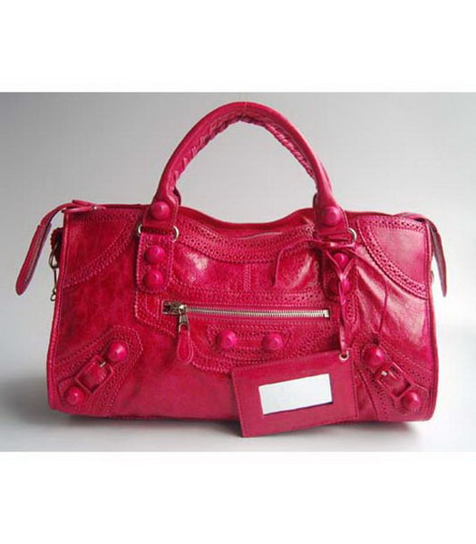 Balenciaga Covered Giant Part Time Red Large Handbag