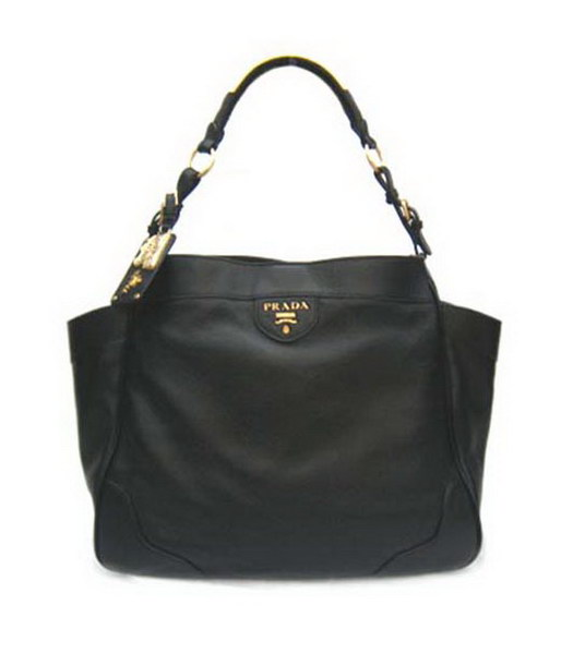 Prada Vitello Danino Tote Bag Black