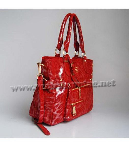 Prada Tote Leopard Pattern Bag Red-1