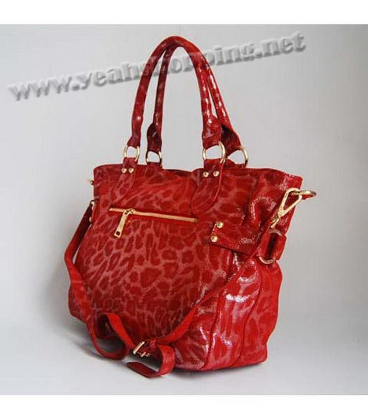 Prada Tote Leopard Pattern Bag Red-2