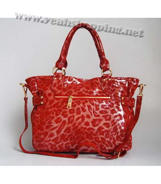 Prada Tote Leopard Pattern Bag Red-3