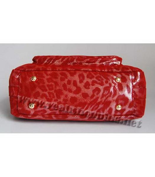 Prada Tote Leopard Pattern Bag Red-4