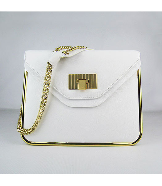 Chloe Sally Calfskin Handbag White