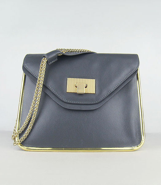 Chloe Sally Snake Pattern Handbag Elephant Grey