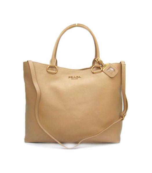 4838e502b7 Prada Shopper Bag Apricot Calfskin - Replica Handbags